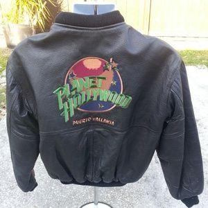 Planet Hollywood Bomber Jacket Puerto Vallarta VTG